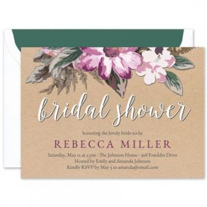 Bridal Floral Invitation