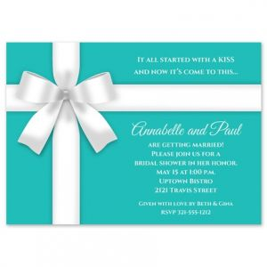 White Bow Invitation