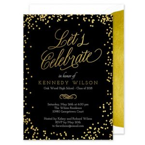 Shiny Confetti Invitation