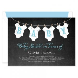 Boy Clothesline Invitation