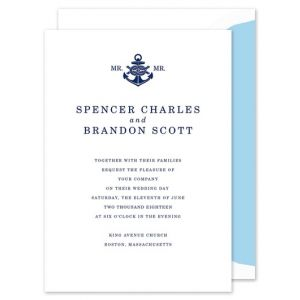 Nautical Knot Invitation
