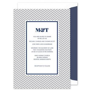 Gray Chevron Invitation
