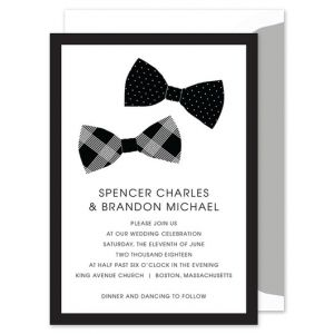 Bowtie Love Invitation