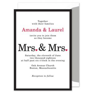 Mrs. & Mrs. Invitation