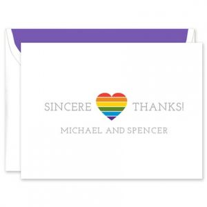 Rainbow Heart Note Card