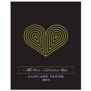 "8"" x 10"" Deco Heart Print"