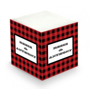 Plaid Sticky Note Cube