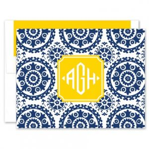 Navy Suzani Note Card
