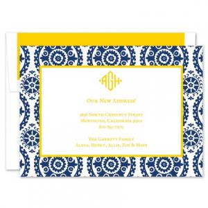 Navy Suzani Invitation