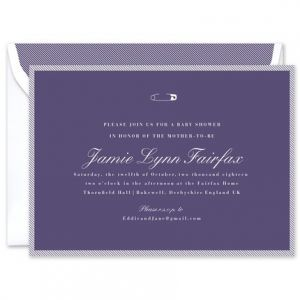 Navy Pin Invitation