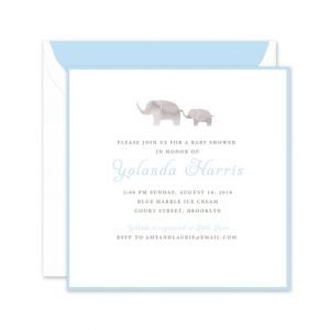 Blue Elephant Invitation