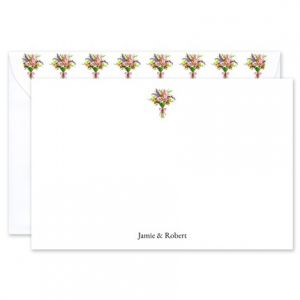 Spring Bouquet Flat Card