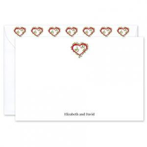 Floral Heart Flat Card