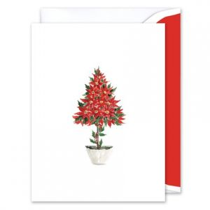 Pointsettia Greeting Card