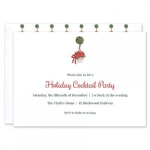 Holiday Topiary Invitation