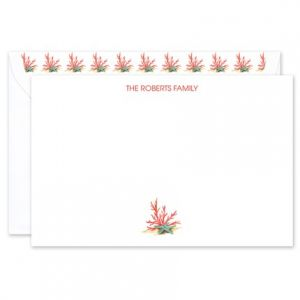 Coral Star Flat Card