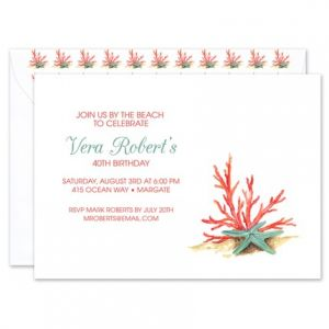 Coral Star Invitation