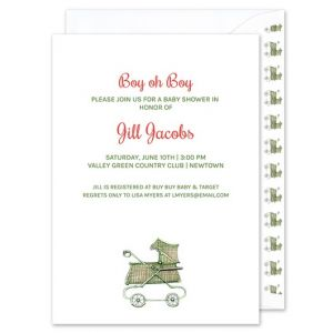 Classic Buggy Invitation