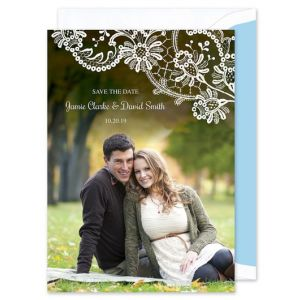 Lace Doily Save the Date
