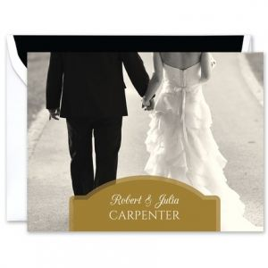 Golden Photo Note Card