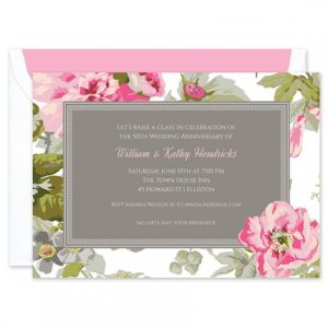 Summer Floral Invitation