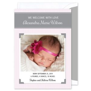 Pink Polaroid Invitation