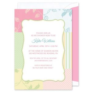 Pastel Patchwork Invitation