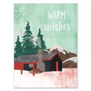 Cozy Cabin Greeting Card