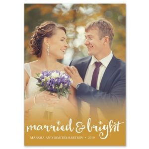 Married & Bright Photo Card