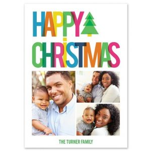 Rainbow Christmas Photo Card