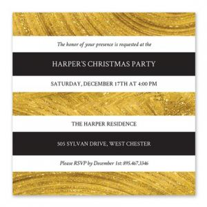 Gold Marble Invitation