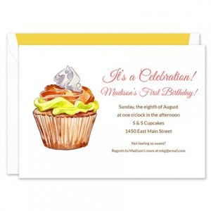 Fall Cupcake Invitation