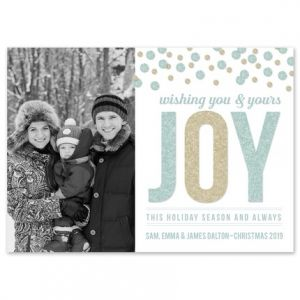 Joyful Shimmer Photo Card