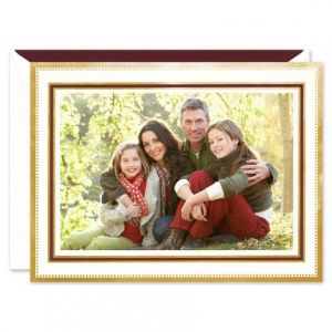 Claret & Gold Photo Card