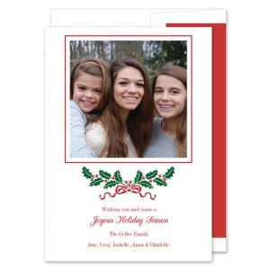 Holly Swag Photo Card