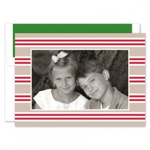 Millie Stripe Photo Card