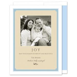 Blue Tan Photo Card