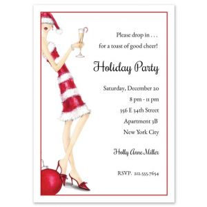 Red Stripes Invitation