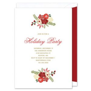 Holiday Florals Invitation