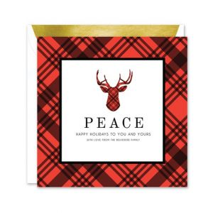 Plaid Reindeer Greeting Card