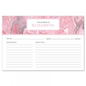 Pink Marble Recipe Card