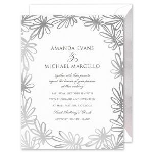 Silver Whimsy Invitation
