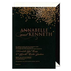 Black Confetti Invitation