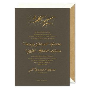 Pewter Invitation