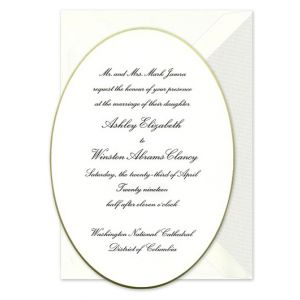 Oval Gilt Edge Invitation