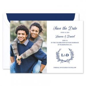 Laurel Wreath Save the Date
