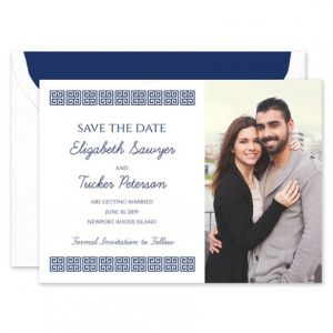 Greek Key Save the Date