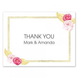 Golden Floral Note Card
