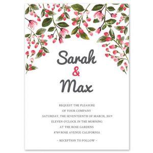 Romantic Vines Invitation