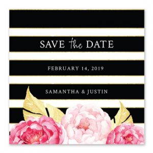 Striped Floral Save the Date